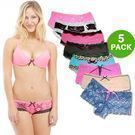 Rampage Intimates Lacy Panties, 5-Pack