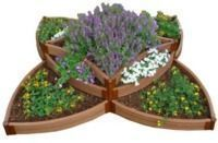 Frame It All 8'x8' Versailles Sunburst Raised Garden Bed Kit