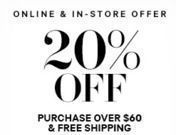H&M - 20% Off $60+ Order + Free Shipping