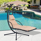 Hanging Chaise Lounger Chair Air Porch Swing Hammock