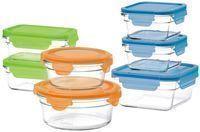 Glasslock Oven Safe 14-Piece Food Storage Set