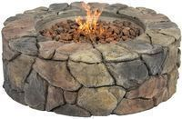 """Stone Design 28"""" Outdoor Gas Fire Pit"""