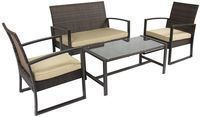 BCP Wicker Rattan Patio Furniture 4-Piece Set