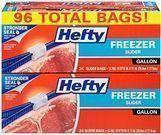 96-Count Hefty Slider One Gallon Freezer Bags