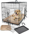 X-Large OxGord Cushioned Bed Pet Crate