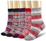 Five Pairs of Bemaystar Women's Wool Warm Socks