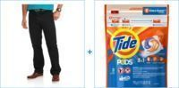Faded Glory Men's Relaxed Fit Jeans + Tide Detergent