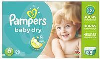 128-Count Pampers Baby Dry Diapers (Size 6)