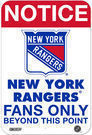 NHL Fans Only 8x12 Aluminum Signs (18 Teams)