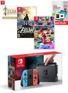 Nintendo Switch Neon Joy-Con Mario Kart 8 Deluxe Bundle