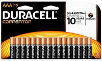 Duracell Coppertop Alkaline AAA or AA Batteries