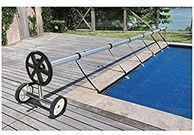 Stainless Steel 21 ft In-Ground Pool Cover Reel Tube Set