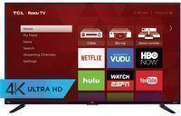 TCL 55 4K LED-Backlit LCD Ultra HD Roku Smart TV (Refurb)