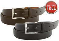Men's Genuine Leather Dress Belt 2-Pack