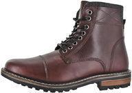 Crevo Men's Camden Leather Fashion Combat Boots