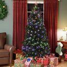 Pre-Lit Fiber Optic 7' Artificial Christmas Tree