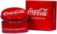 2018 Fiji Coca-Cola Bottle Cap-Shaped 6g $1 Silver Coin