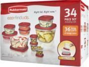Rubbermaid 34pc Food Storage Container Set (RedCard)