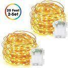 DecorNova 60-LED 20-Foot String Lights 2-Pack 2-Pack