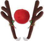 Reindeer Antlers & Red Rudolph Nose Car Costume