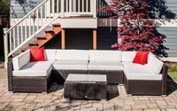 Outsunny 7-Pc. Wicker Sofa Sectional