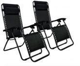 Zero Gravity Outdoor Patio Chairs (Set of 2)