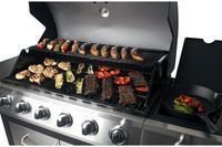Dyna-Glo 6-Burner Open Cart Propane Gas Grill w/ Side Burner