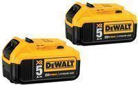 2-Pack DeWALT 20V Max XR 5.0Ah Lithium Ion Battery