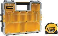 DeWALT 10-Compartment Organizer + 16' Tape Measure