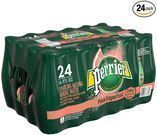 Perrier Pink Grapefruit Flavored Carbonated Water 24-Pack