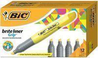 Bic Brite Liner Grip Highlighter 12-Pack