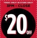 Michaels - $20 Off $50+ Purchase | 3pm to Close!