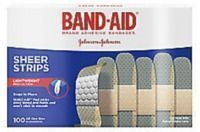 100-Count Band-Aid Brand Sheer Bandages
