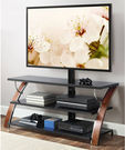 Whalen Payton Brown Cherry 3-in-1 Flat Panel TV Stand